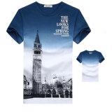 T-shirts estampés par 3D bon marché de T-shirt d'hommes d'impression d'OEM Digital