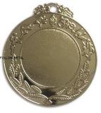 Médaille blanc avec le collant au milieu