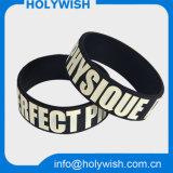 Projeto impermeável passivo do logotipo de Debossed do Wristband do silicone de RFID