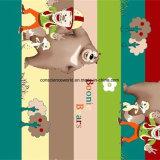 100%Polyester漫画ヘッド禿げたQiang Pigment&Disperseは寝具セットのためのファブリックを印刷した