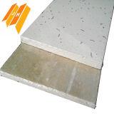 La teja del techo de fibra mineral acústica