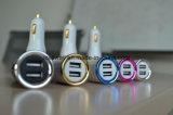이동 전화를 위한 2 USB 발광 다이오드 표시 차 충전기