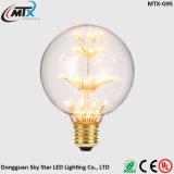 ampoule décorative créatrice économiseuse d'énergie d'impression de couleur de la vente chaude DEL de quirlandes électriques de câblage cuivre