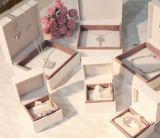 De Oorringen van het fluweel/van het Document van Stoffen/Vakje van de Juwelen van de Gift van het Vakje van de Ring/van de Armband het Verpakkende