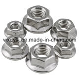Noix de bride de l'hexagone A2-70 de l'acier inoxydable 304 DIN 6923