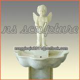 天使の赤ん坊Mf1707が付いている白濁水の庭の壁泉
