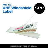 Tag de papel passivo da etiqueta da etiqueta da freqüência ultraelevada RFID para pára-brisas
