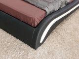 Neuer eleganter Entwurfs-modernes echtes Leder-Bett (HC303) für Schlafzimmer