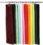 ホックが付いている100%年の綿かMicrofiberのゴルフタオル(または刺繍は印刷することができる)