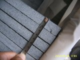 حجارة طبيعيّة يصقل مطلقة أسود صوّان قرميد لأنّ أرضية/[كونترتوب]/تفاهة أعلى/غرفة حمّام