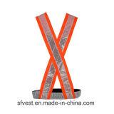 Ceinture de sécurité 100% r3fléchissante de bande de PVC de gilet de sûreté de force de polyester salut pour la circulation ou l'équitation