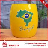 La grande tasse de bière en céramique en gros promotionnelle la plus neuve (CG223)