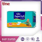 Пеленки младенца конкурентоспособной цены абсорбциы пеленок младенца супер