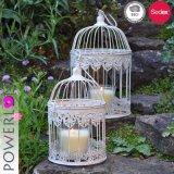 Suporte de vela decorativo Wedding do Birdcage do ferro feito
