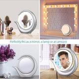 Eléctrico 1X / 7X Espejo de maquillaje de aumento Espejo de doble cara de maquillaje de luz LED
