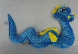 Голубая желтая неповоротливая мягкая заполненная игрушка дракона моря