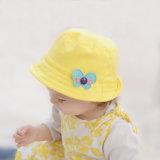 15003 100% sombreros florales del bebé de la mariposa del algodón