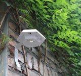 Luz plástica solar al aire libre del sensor de la pared del jardín del OEM LED de la fábrica