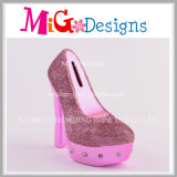 Lovely Ceramic High Heel com Diamante Piggy Bank