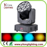 12X3w RGBWの洗浄移動ヘッドLEDクリスマスの照明