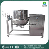 Aço Inoxidável Tipo de inclinação industrial Aquecimento a vapor Aquecimento duplo Chaleira com agitador / misturador para gelatina
