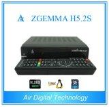 Le meilleur récepteur satellite jumeau neuf du système d'exploitation linux E2 de Zgemma H5.2s de tuners de la version H. 265/Hevc DVB-S2+S2