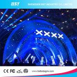 높은 Refersh 비율 P6.25 옥외 풀 컬러 단계 1/8의 검사를 가진 임대 쇼 LED 스크린