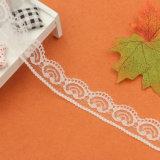 백색 의복 레이스를 위한 색깔 대중적인 디자인에 의하여 부채 모양으로 만들어지는 꽃 엄밀한 레이스