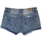 Ladeis Популярная и хорошее Стиральная Оптовая Короткие джинсы (MY-035)