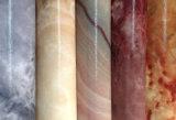 Couro artificial do plutônio da grão de madeira do jade para sapatas, sacos, decoração, mobília (HS-Y90)