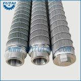 Tubo del filtro de forma de vela de los recambios de la materia textil para la hiladora