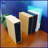 Altofalante sem fio de madeira estereofónico baixo super portátil clássico de Bluetooth da biblioteca de madeira