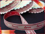 Подгонянная сплетенная лента жаккарда одежды ленты логоса эластичная