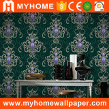 Papier peint imperméable à l'eau de PVC de décor à la maison floral