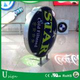 Signage acrílico usado ao ar livre do diodo emissor de luz para anunciar