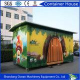 Casa modular pré-fabricada do recipiente da remoção conveniente dos painéis de sanduíche com proteção ambiental