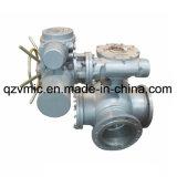 電気三方三方ステンレス鋼か鋳造物鋼鉄は弁Q944f Q945f球フランジを付けたようになった