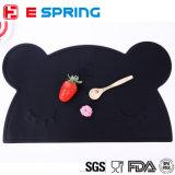 Hot Selling Ins New Children's Baby Bear Shape Silicone Placemat Vaso de mesa resistente ao calor Mat Set de decoração de talheres