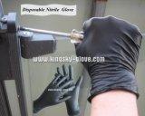 Перчатка работы экзамена порошка нитрила свободно устранимая (устранимая перчатка Перчатк-Нитрила)
