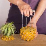 Découpage de fruit d'acier inoxydable de serveur de chef de Walmart de cale de Peeler de coupeur de boucle de trancheuse de Corer d'ananas grand de biscuit d'instruments professionnels de produit découpant le couteau creusant