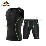 La compresión de ciclo del desgaste se divierte tapas y los pantalones de la aptitud de la ropa para los Mens