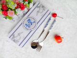 Manija de cerámica Set de cubiertos de acero inoxidable / cubiertos