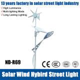 luz de rua solar do diodo emissor de luz do híbrido do vento 30W ao ar livre