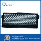 Carbón activo negro con filtro de fibra de vidrio para el aspirador