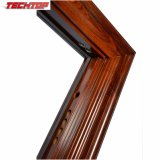 Portello di legno di metallo TPS-069 e vetro intagliati esterni, modelli di legno esterni del portello della Turchia