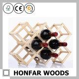 L'usager de meubles de barre fournit la crémaillère en bois de vin de 4 bouteilles
