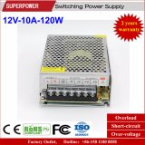 fonte de alimentação do interruptor de 12V 10A 120W para a iluminação do diodo emissor de luz