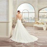 Новый шнурок Tulle V-Шеи прибытия Appliques платье венчания 2017