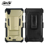 Shs TPU+PC avec la caisse hybride tournante de téléphone de clip ceinture de 360 degrés pour l'iPhone 6