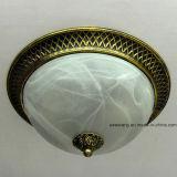 중동 철 세륨 증명서를 가진 둥근 유리제 천장 램프
